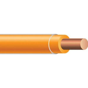 THHN 14 AWG Solid Copper Orange Wire, 500ft Spool