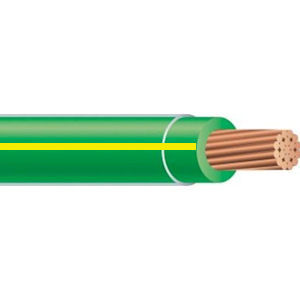THHN 10 AWG Stranded Copper Green/Yellow 500 Foot Reel Cable