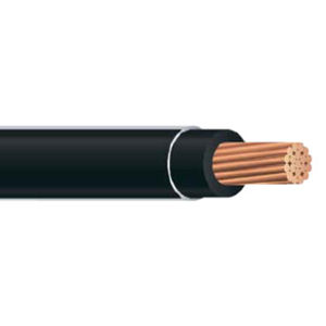 THHN 4 AWG 19 Strand Copper Black 1000 Foot Reel Cable