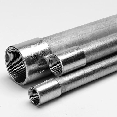 1-1/2 Inch Hot Dip Galvanized Steel Rigid Conduit, 10 Foot