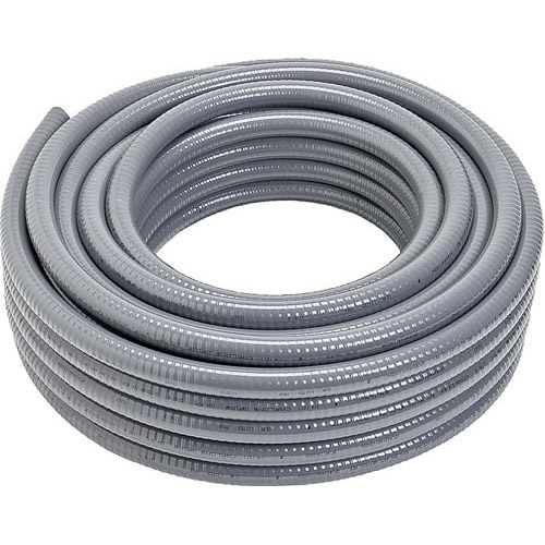 2-1/2 Inch Hot Dip Galvanized Steel Liquidtight Flex Conduit, 25 Foot Carton