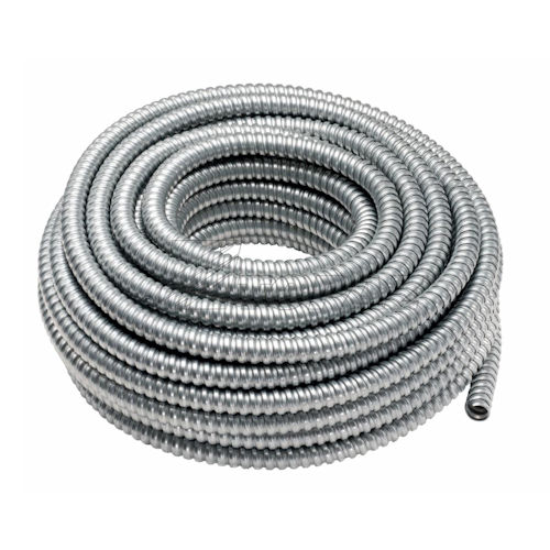 4 Inch Hot Dip Galvanized Steel Flex Conduit, 25 Foot