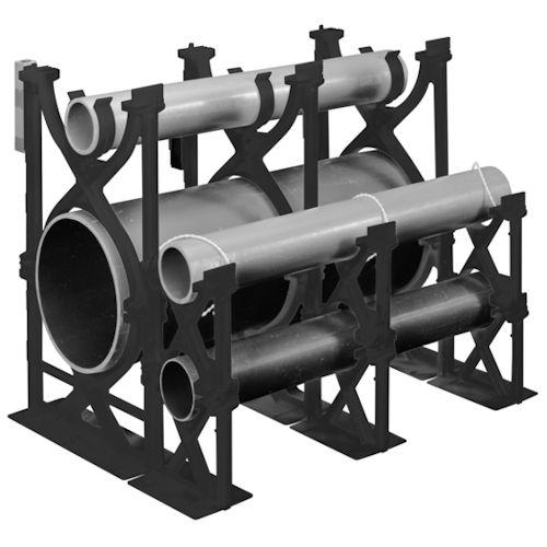 4 x 1-1/2 Inch PVC Base Spacer