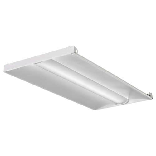 Lithonia 2BLT4-40L-ADSM-GZ1-LP850 2x4 Volumetric Recessed LED Luminaire, 4000 Lumens, 5000K, Curved Smooth Diffuser