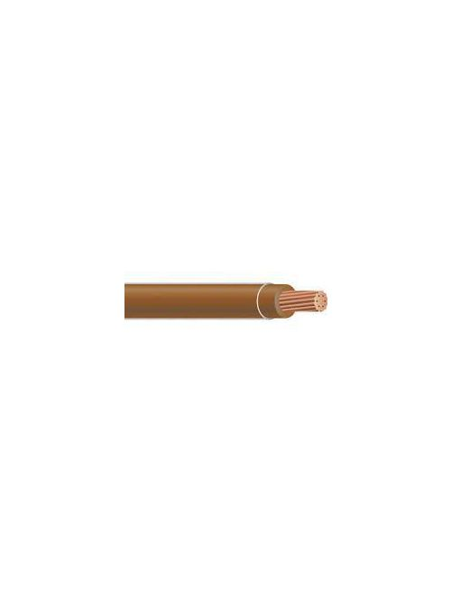 THHN 12 AWG Solid Copper Brown Cable (2500ft Reel)