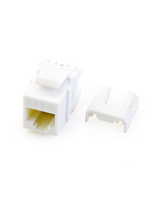 PS WP3476-WH-10 Contractor Pack10pc Cat 6 Quick Connect RJ45T568-A/B Keystone Connector White