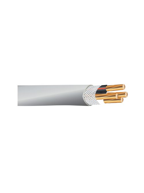 SER 1-1-1-3 AWG Copper Round Service Entrance Cable, 500 Foot Reel