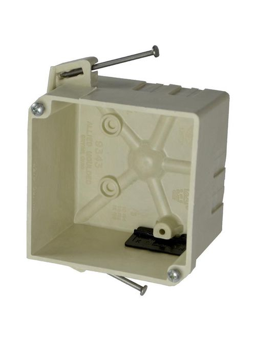 "Allied Moulded 9343-NK 4"" 32.3"" Volume Speed Clamp Square Junction Box"