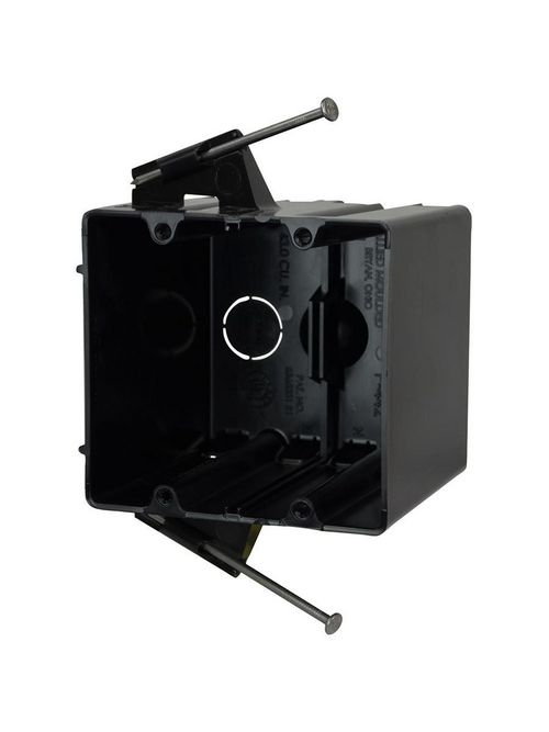 """Allied Moulded P-442 3-9/16 x 4 x 3-3/4"""" 43"""" 2-Gang Angled Nail Switch/Receptacle Outlet Box"""