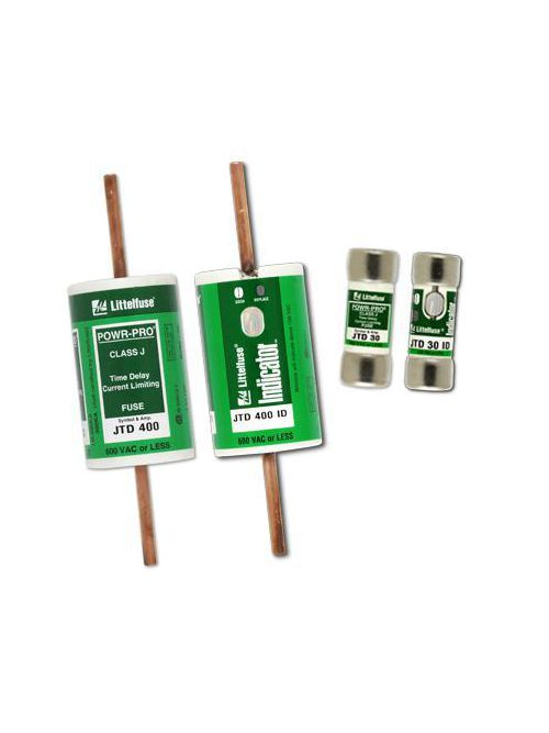 Littelfuse JTD400ID 400 Amp 600 VAC 500 VDC Class J Time Delay Fuse with Indicator