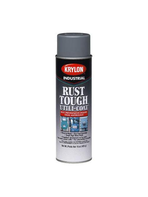Krylon K20879 Gray Industrial Rust Tough Utili-Coat Enamel Utility Meter Aerosol Spray