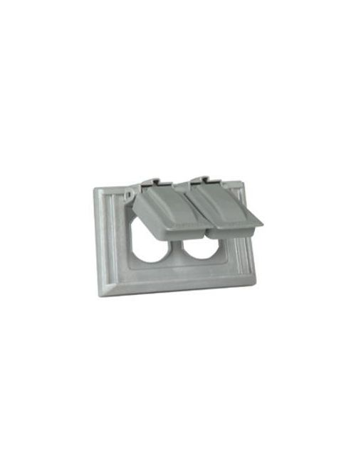 Eagle Electric S1952 1-Gang Gray Self Closing Lid Weatherproof Duplex Receptacle/Combination Device Cover