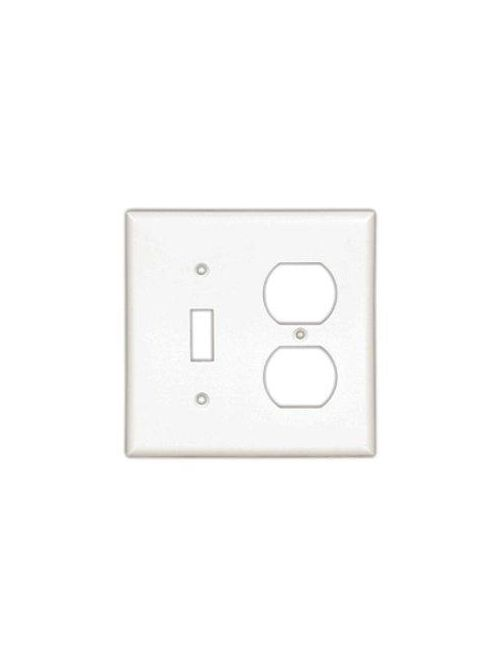 Eaton Wiring Devices 2158W-BOX 3-Gang White Thermoset Standard Size Combination Wallplate