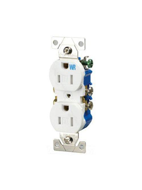 Eaton Wiring Devices TWR270W 15 Amp 125 VAC 2-Pole 3-Wire NEMA 5-15R White Duplex Receptacle