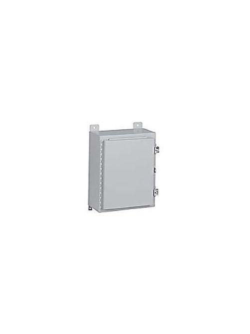 Wiegmann N12242008 20 x 24 x 8 Inch Gray Steel NEMA 12/13 1-Door Metallic Enclosure