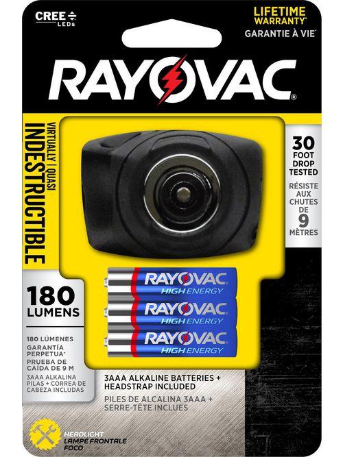 RAYOVAC DIYHPHL-BC LED HEADLIGHT180 LUMENS LIKELY SUBJECT TO TAX