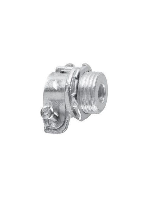 Crouse-Hinds Series 707 3/8 Inch Malleable Iron Non-Insulated Squeeze Type Straight FMC Connector