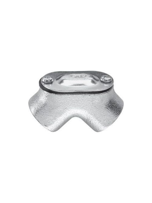 Crouse-Hinds Series 820 1/2 Inch Malleable Iron Female to Female 90 Degrees Rigid Conduit Pull Elbow
