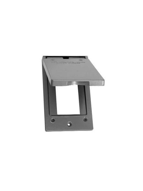 Crouse-Hinds Series TP7240 Gray Die-Cast Aluminum 1-Gang Self-Closing Weatherproof Outlet Box Cover with Gasket