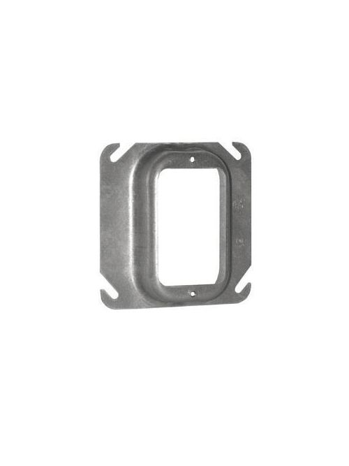 Crouse-Hinds Series TP488 1 Inch Raised Steel 1-Device Square Outlet Box Mud Ring