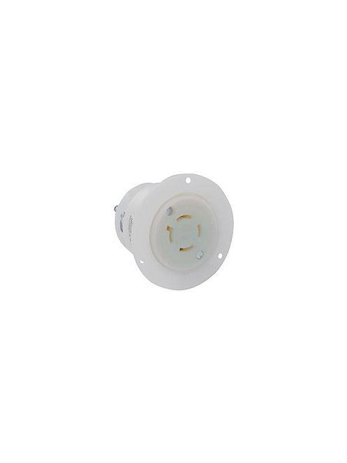LEV 2416 L14-20R FLANGED OUTLET WHI