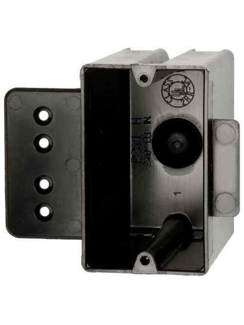 "Allied Moulded P-241H 3-9/16 x 2-1/4 x 3-3/4"" 24"" 1-Gang PVC Switch/Receptacle Outlet Box"