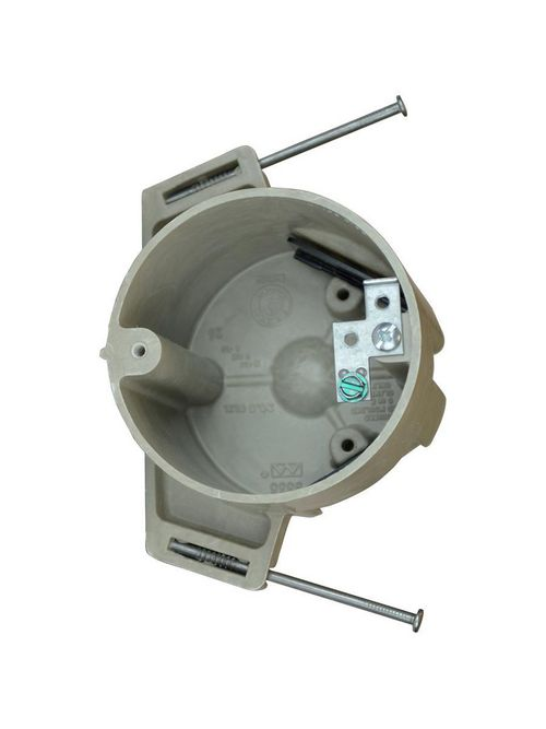 """Allied Moulded 9335-NGK 2-7/8 x 3-1/2"""" 20.5"""" Fiberglass Round Ceiling Fixture Outlet Box"""