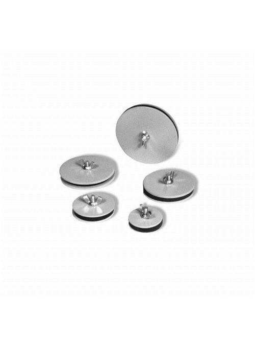 Austin AB-350HS 3-1/2 Inch Conduit 4.625 Inch Diameter Gray 14 Gauge Steel Oiltight Hole Seal