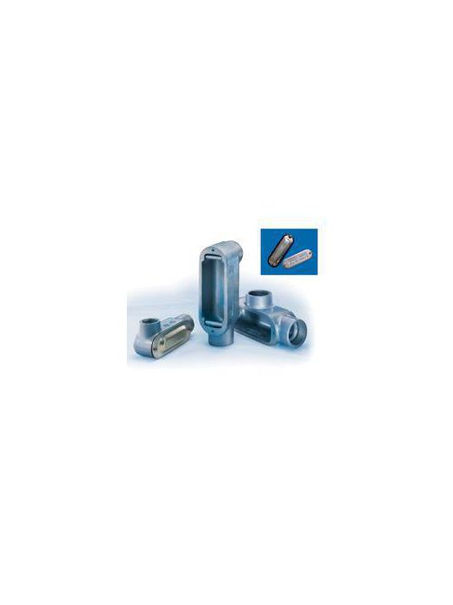 Crouse-Hinds Series LL250M 2-1/2 Inch Malleable Iron Form5 Type LL Threaded Rigid Conduit Body