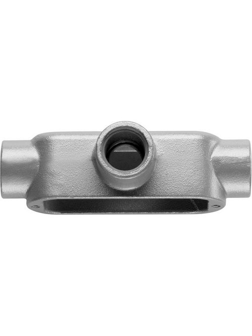Crouse-Hinds Series T250M 2-1/2 Inch Malleable Iron Form5 Type T Threaded Rigid Conduit Body