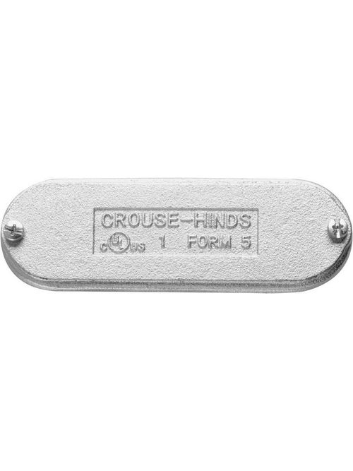 Crouse-Hinds Series K350CM 4 Inch Cast Aluminum Form5 Conduit Blank Cover