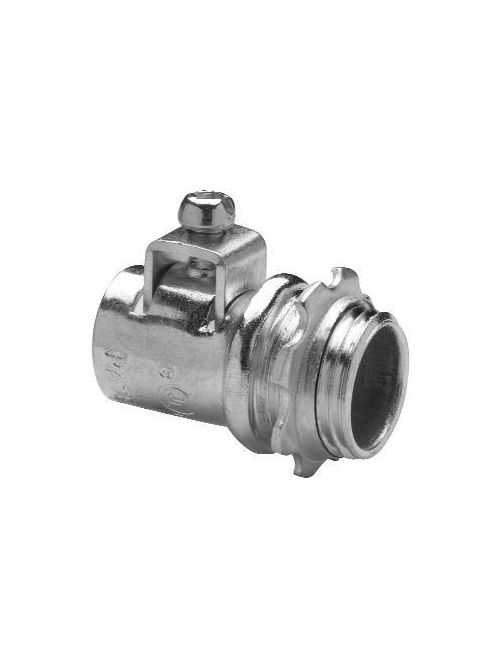 Crouse-Hinds Series ACB38 3/8 Inch Steel FMC Straight AC/MC Connector