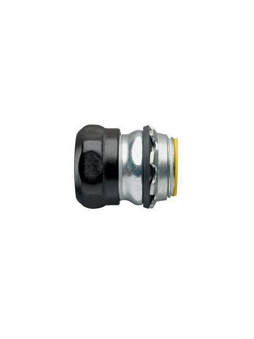 Crouse-Hinds Series 1651RT 3/4 Inch Steel Insulated Raintight Compression Straight EMT Connector