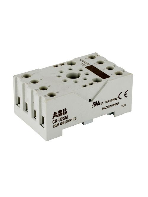 Thomas & Betts 1SVR405670R1100 DPDT Plug-In Control Relay Small Socket