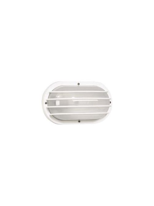 Adjust-A-Post S76WF-WH 6 Inch 10.675 Inch White Frosted Ribbed Polycarbonate Lens Nautical Wall Light