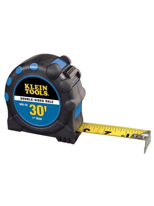 Klein 908-30 1 Inch x 30 Foot 2-Sided Power Return Steel Rule