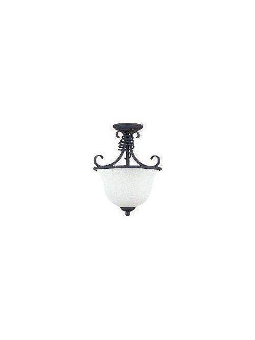 Sea Gull Lighting 5136-72 3-Lamp 40 W 120 Volt Old Iron Candelabra Torpedo Hall/Foyer Light Fixture