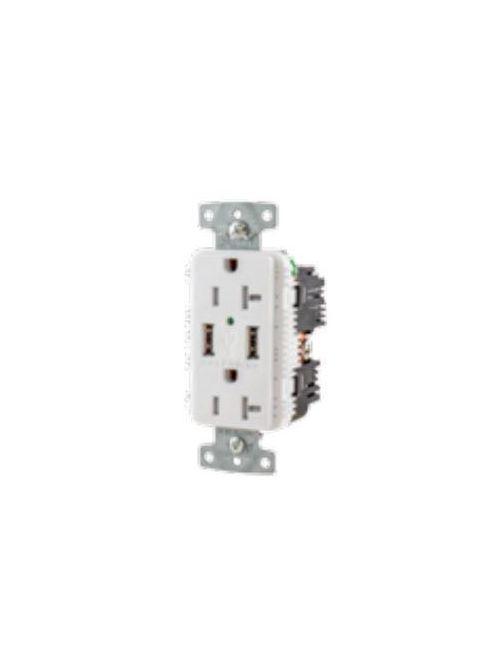 HWDK USB15AC5WP RCPT DUP 15A 125V 5