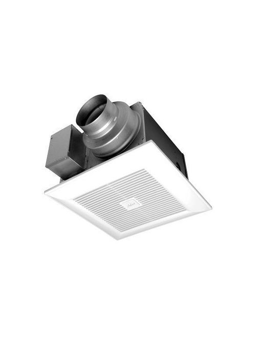 """PAN FV-0511VK2 WHISPERGREEN SELECTPICK-A-FLOW AIRFLOW SELECTOR 50, 80OR 110 CFM FAN WITH ECM MOTOR, <0.3SONE, SELECT UP TO 3 PLUG'N PLAY MODULES. SINGLE-HINGEDFLEX-Z FAST INSTALLATION BRACKET,INTEGRATED DUAL 4"""" OR 6"""" DUCTADAPTOR, 7-3/8"""" HOUSING DEPTH.ELEGANT GRILLE AND MULTI-ACCESSJUNCTION BOX."""
