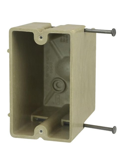 """Allied Moulded 1098-N 3-1/4 x 2-1/4 x 3-3/4"""" 20.5"""" 1-Gang Fiberglass Switch/Receptacle Outlet Box"""