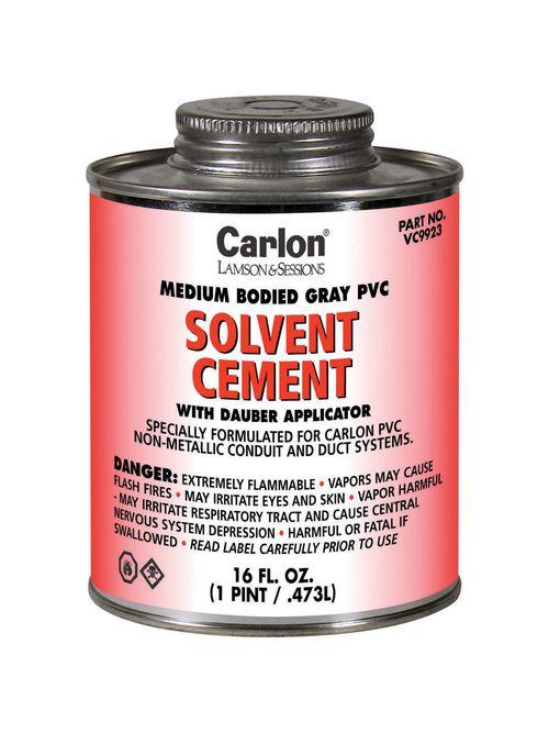 Carlon VC9923 PVC Medium-Bodied Gray Cement, 1-Pint