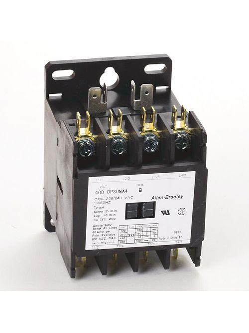 Allen-Bradley 400-DP30NJ1 30 Amp Definite Purpose Contactor