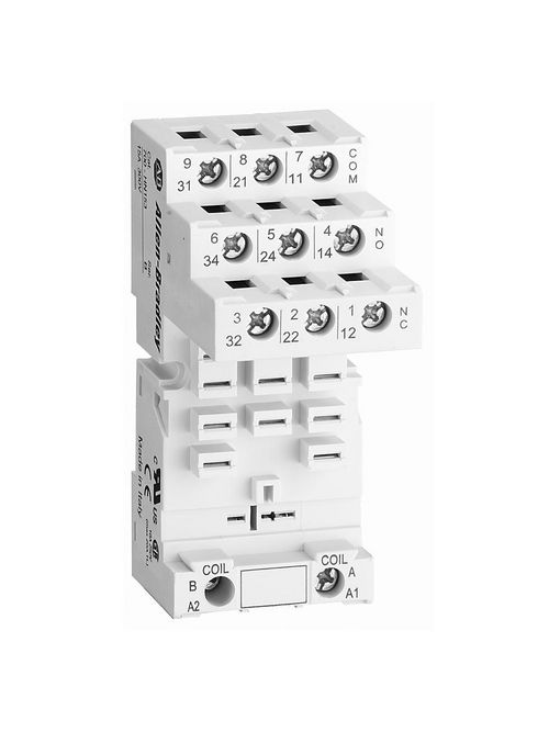 A-B 700-HN153 11-BLADE BASE SOCKET WITH GUARDED TOUCH SAFE TERMINALS
