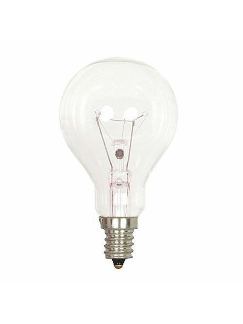 SATCO S2740 40 W 120 Volt 420 Lumen Clear E12 Candelabra Base A15 Incandescent Lamp