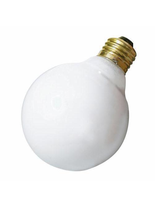 SATCO A3641 40 W 130 Volt 320 Lumen Gloss White E26 Medium Base G25 Decorative Incandescent Lamp