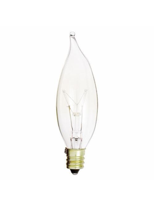 SATCO A3673 15 W 130 Volt 95 Lumen Clear E12 Candelabra Base CA8 Decorative Incandescent Lamp