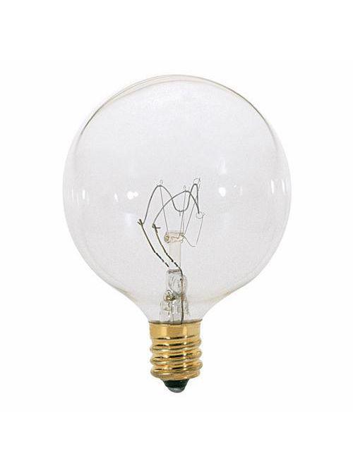 SATCO A3923 40 W 130 Volt 360 Lumen Clear E12 Candelabra Base G16 1/2 Decorative Incandescent Lamp