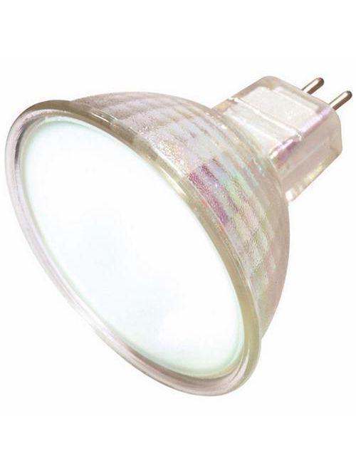 SATCO S4120 20 W 12 Volt 2900 K Frosted GU5.3/GX5.3 Miniature Bi-Pin Round Base MR16 Halogen Lamp