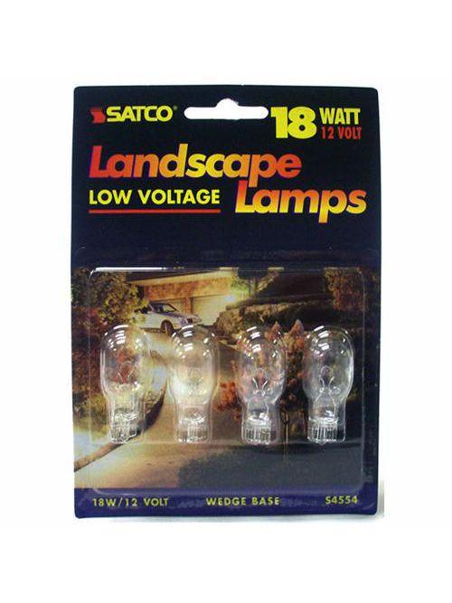 SATCO S4554 18 W 12 Volt W2.1x9.5d Mini Wedge Base T8 Landscape Miniature Lamp
