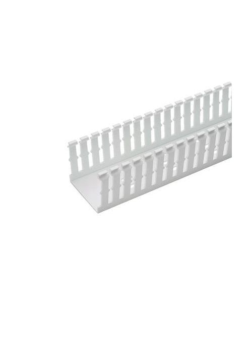 Panduit F3X2WH6 3 x 2 Inch x 6 Foot White PVC Slotted Duct